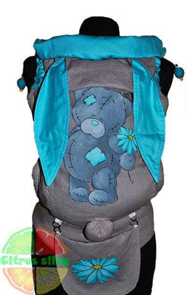 Фото - Эрго-рюкзаки Citrus sling  с ушками  и рисунком ручной работы