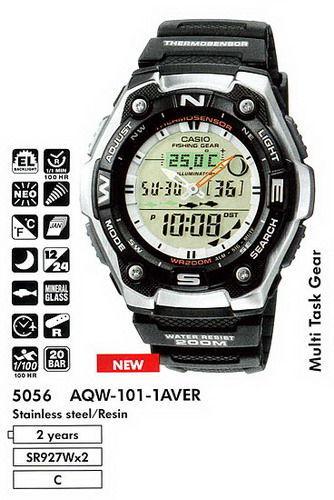 Фото - Часы Casio AQW-101-1A рыбалка и охота в наличии