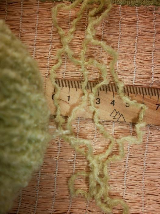 Фото 5 - Пряжа нитки светло-салатная с мохером, мягкая, вес ~ 455 гр