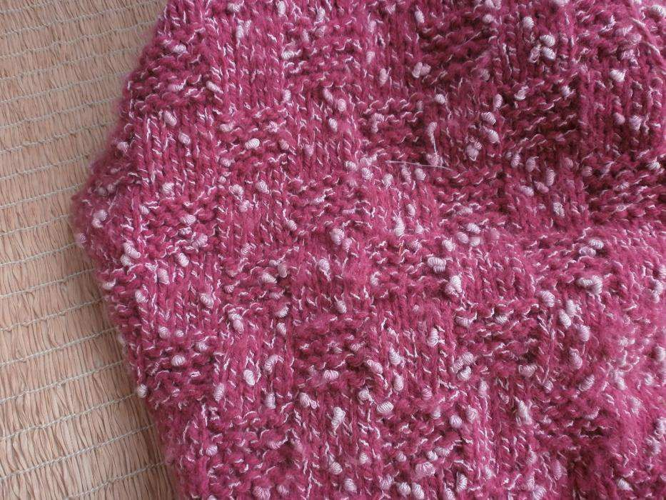 Фото 3 - Пряжа малиново-розовая с белым завитком Супер.Вес~290гр For Hand Made