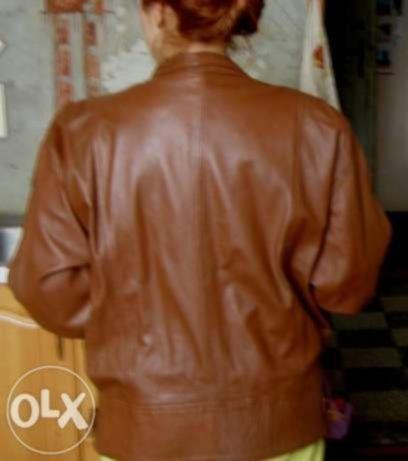 Фото - Кожаная женская куртка 50 р , Турция