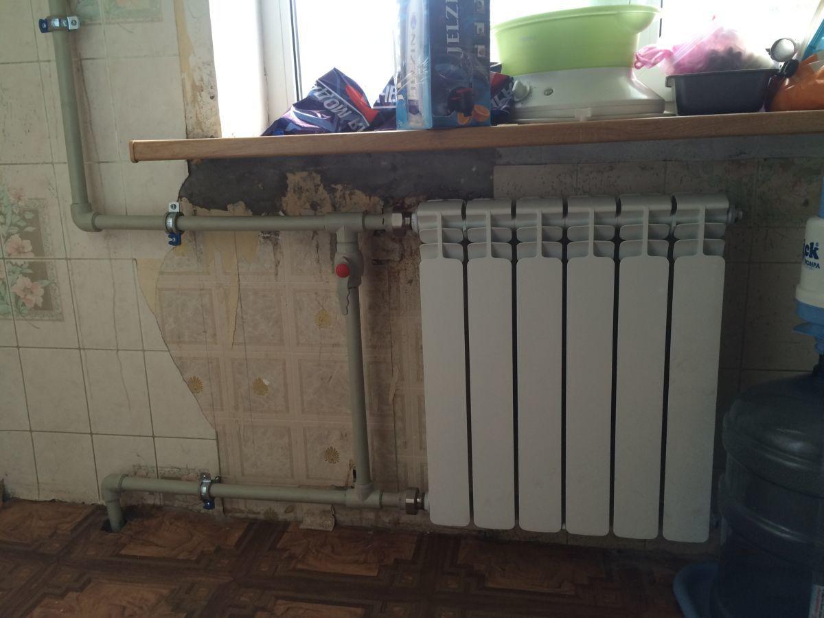 Фото 5 - Установка радиаторов отопления!