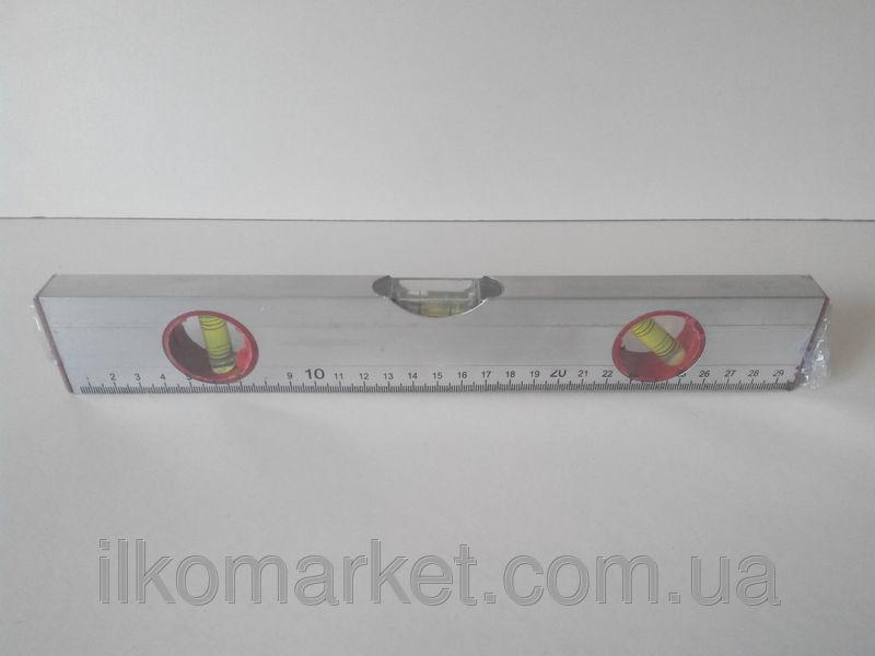 Фото 3 - Уровень с линейкой длина 30см. алюминиевый