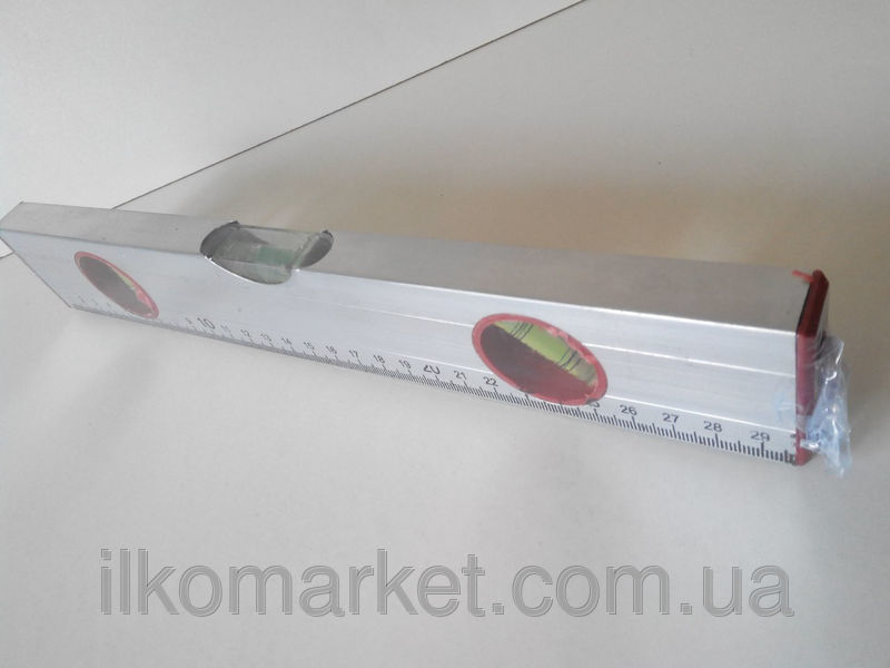 Фото 6 - Уровень с линейкой длина 30см. алюминиевый