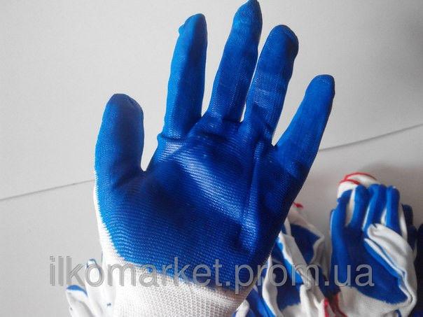 Фото 6 - Перчатки хозяйственные прорезиненные