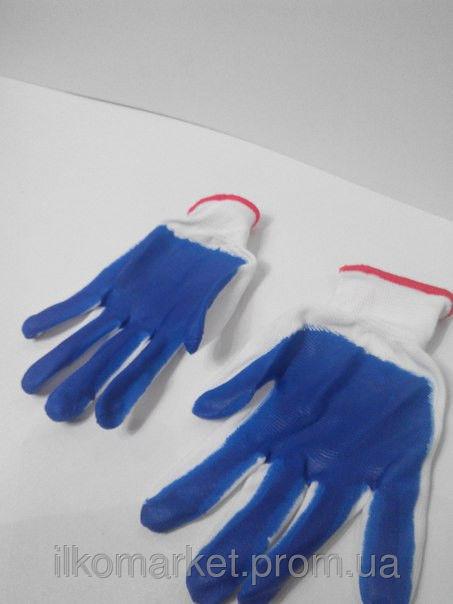 Фото 2 - Перчатки хозяйственные прорезиненные