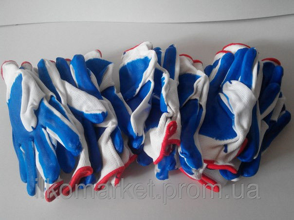 Фото 5 - Перчатки хозяйственные прорезиненные