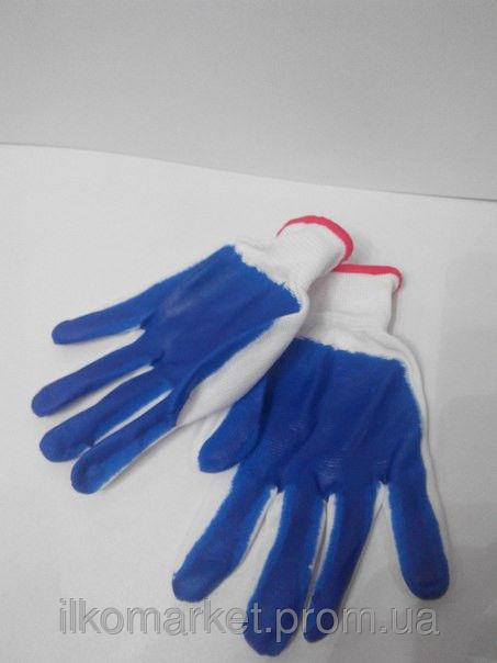 Фото 3 - Перчатки хозяйственные прорезиненные