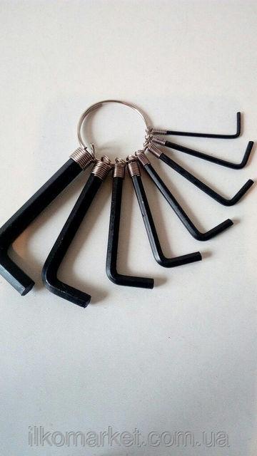 Фото 2 - Набор шестигранников 8 шт. в чехле с кнопкой