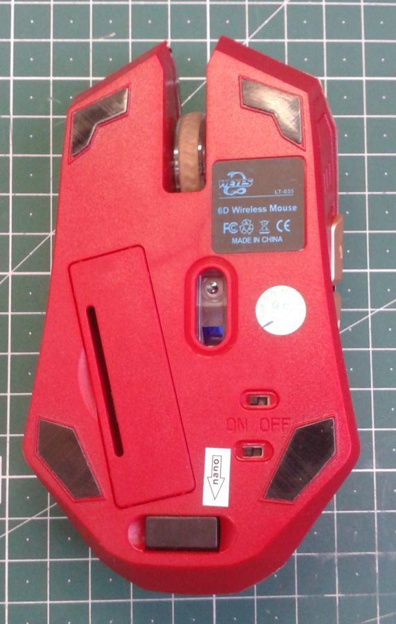 Фото 4 - Оптическая игровая мышка Железный Человек, беспроводная мышь Iron Man