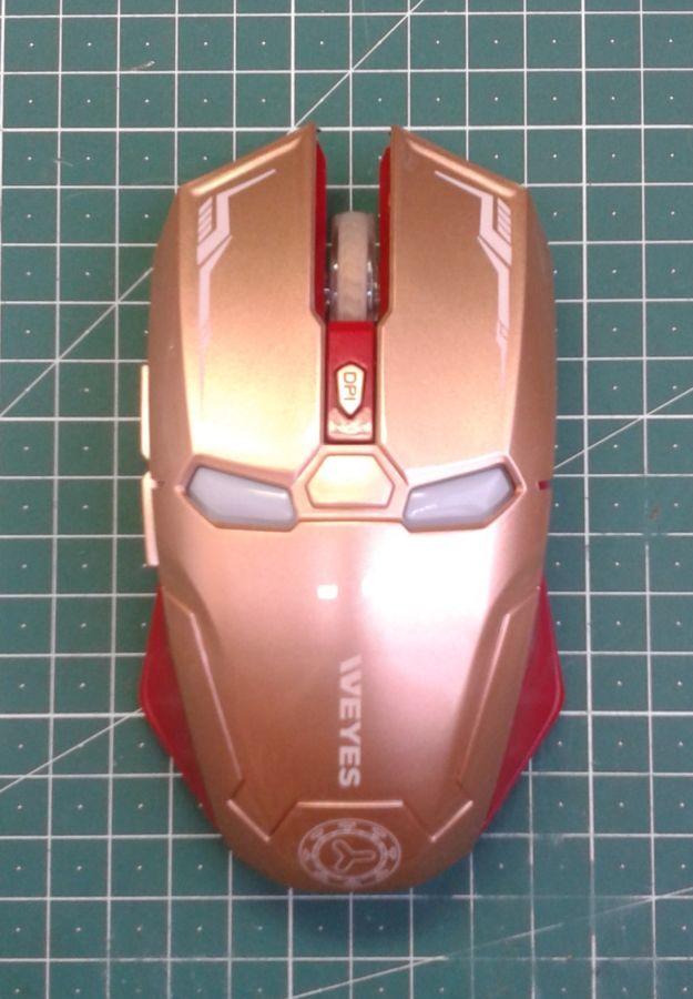 Фото 2 - Оптическая игровая мышка Железный Человек, беспроводная мышь Iron Man