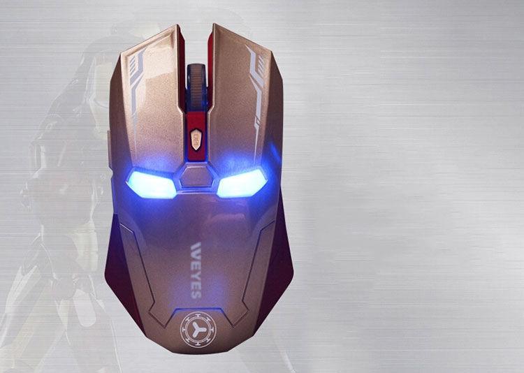 Фото - Оптическая игровая мышка Железный Человек, беспроводная мышь Iron Man