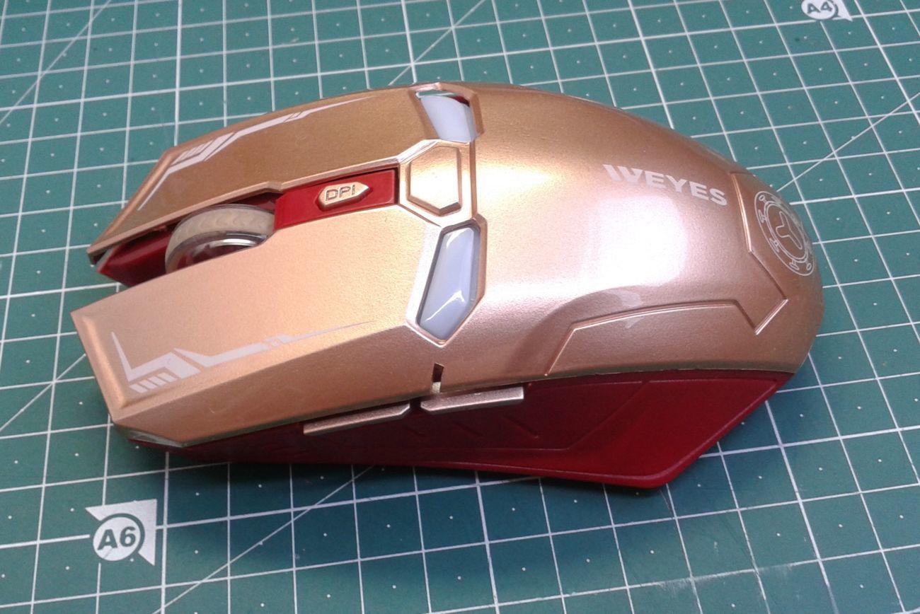 Фото 3 - Оптическая игровая мышка Железный Человек, беспроводная мышь Iron Man