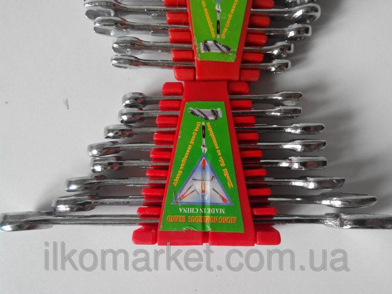 Фото 4 - Набор накидных и рожковых ключей 9-17мм (9 в 1)