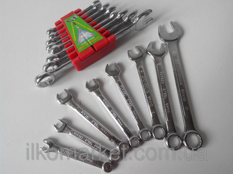 Фото 8 - Набор накидных и рожковых ключей 9-17мм (9 в 1)