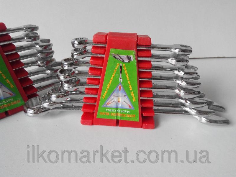 Фото 7 - Набор накидных и рожковых ключей 9-17мм (9 в 1)