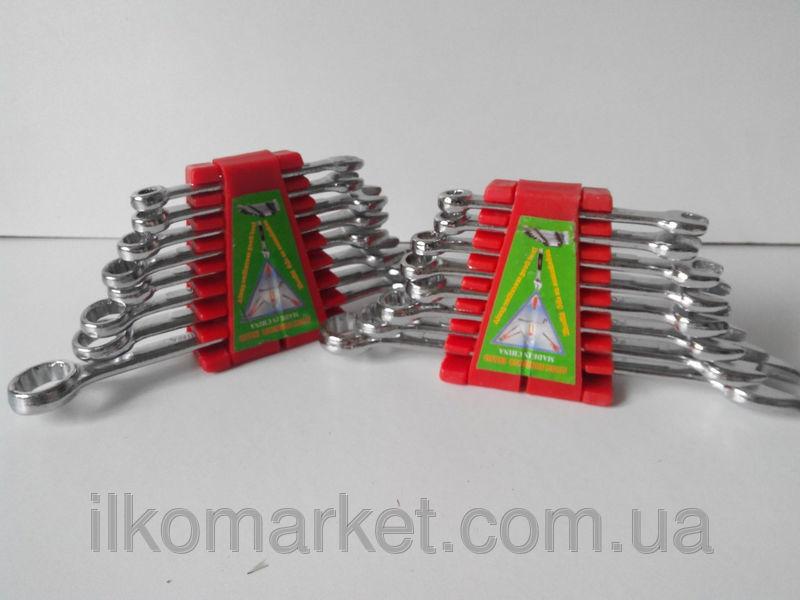 Фото - Набор накидных и рожковых ключей 9-17мм (9 в 1)
