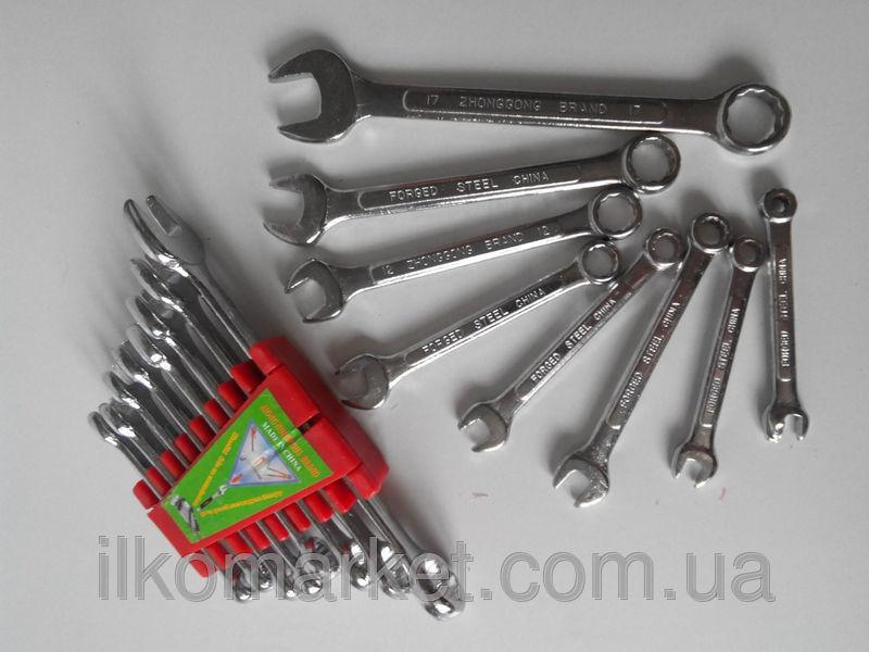 Фото 2 - Набор накидных и рожковых ключей 9-17мм (9 в 1)