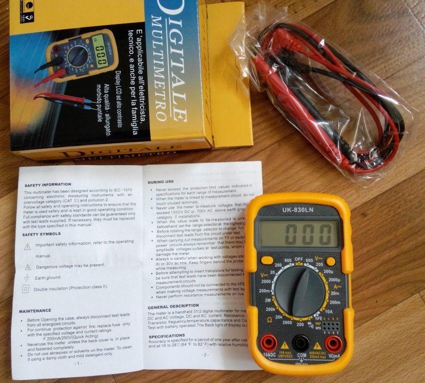 Фото - Мультиметр UK-830LN - малогабаритный мультиметр с подсветкой дисплея