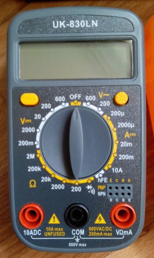 Фото 4 - Мультиметр UK-830LN - малогабаритный мультиметр с подсветкой дисплея