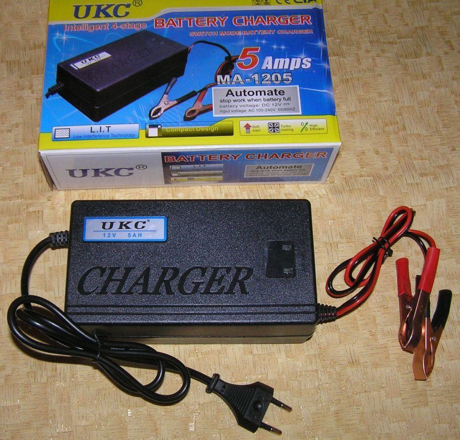 Фото - Зарядное автомат 12В 5А (для автомобильных аккумуляторов 20-80 А*ч)