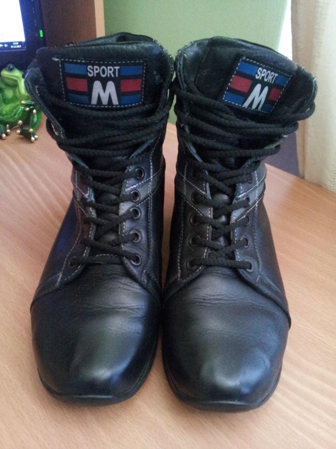 Фото 5 - Кожаные теплые ботиночки. р. 38, ст. 25см