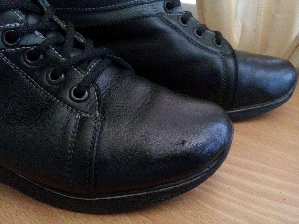 Фото 8 - Кожаные теплые ботиночки. р. 38, ст. 25см