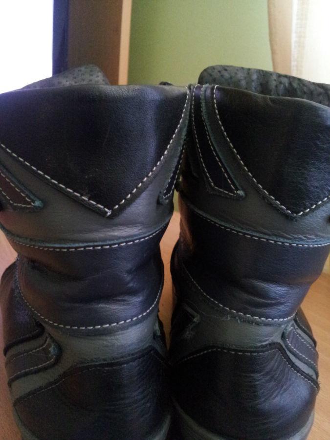 Фото 7 - Кожаные теплые ботиночки. р. 38, ст. 25см
