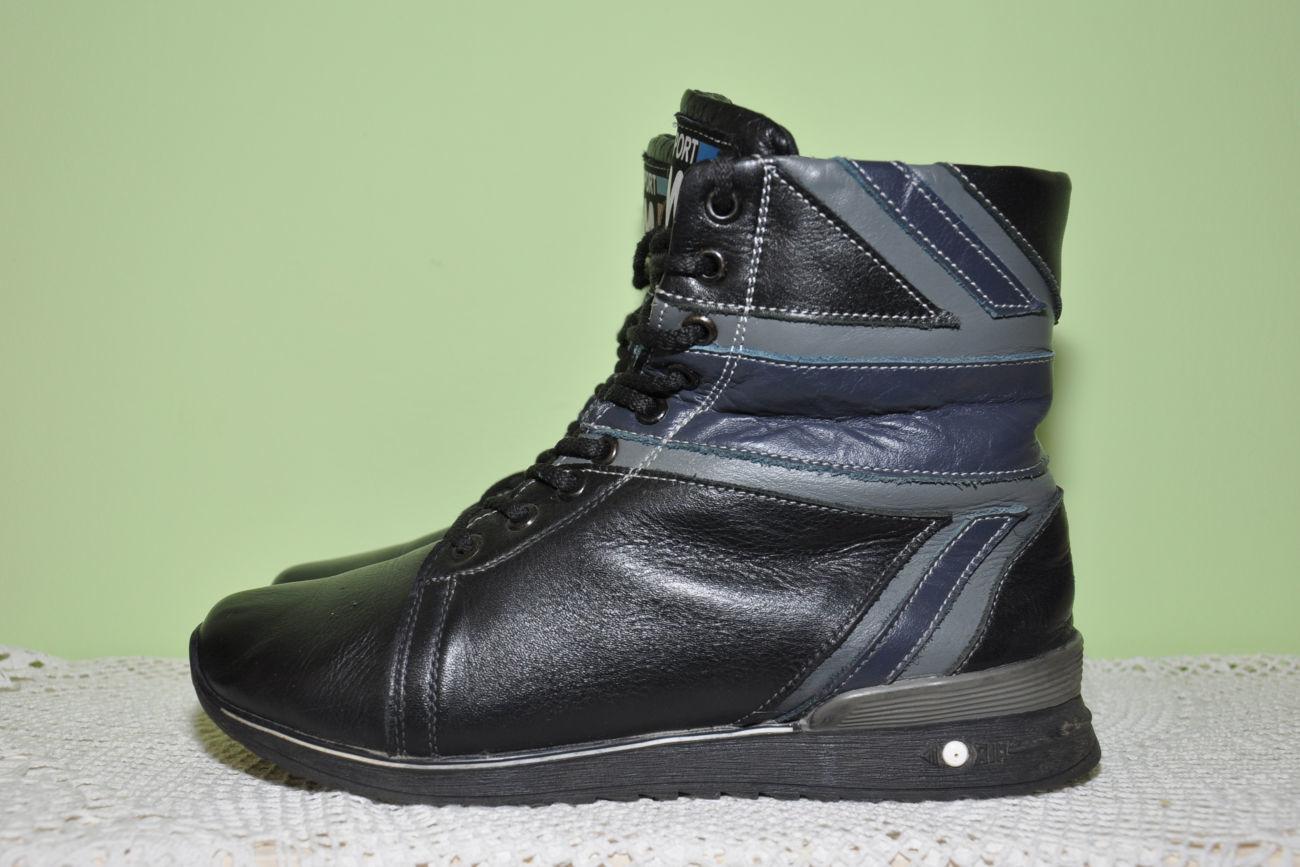 Фото - Кожаные теплые ботиночки. р. 38, ст. 25см
