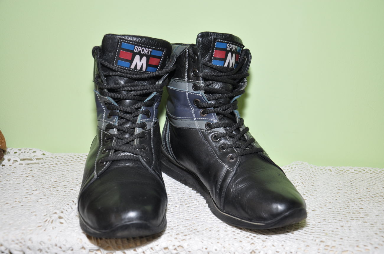 Фото 3 - Кожаные теплые ботиночки. р. 38, ст. 25см