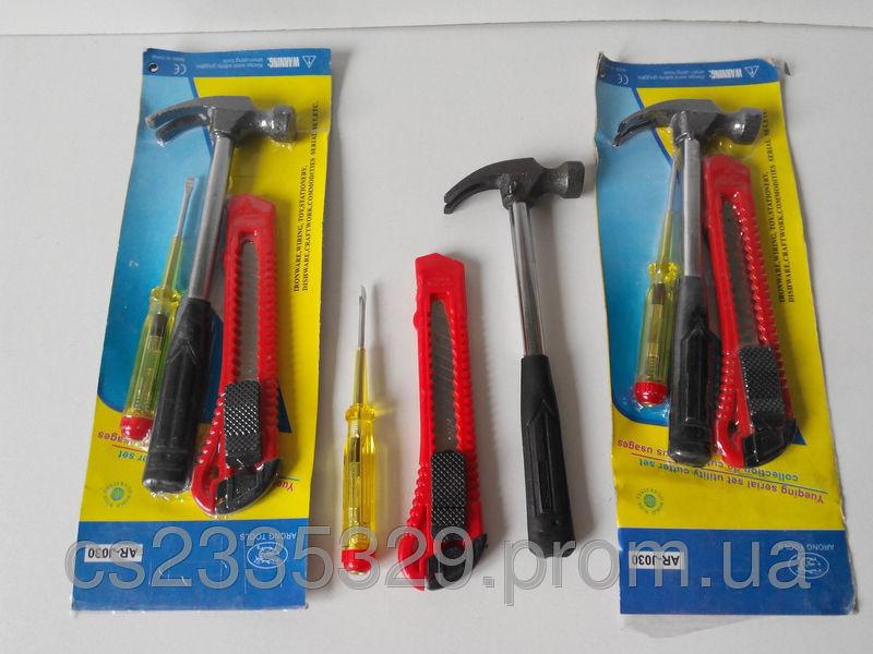 Фото - Набор инструмента молоток, нож-лезвие, индикаторка