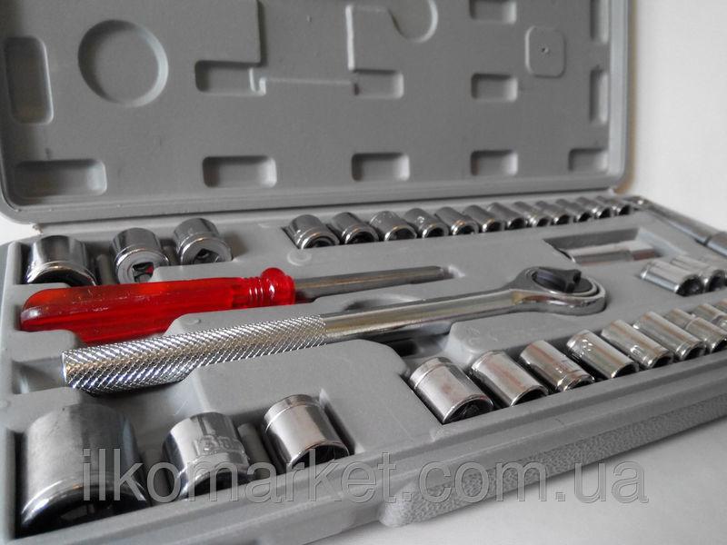 Фото 5 - Набор инструментов - головок большой 40 предметов
