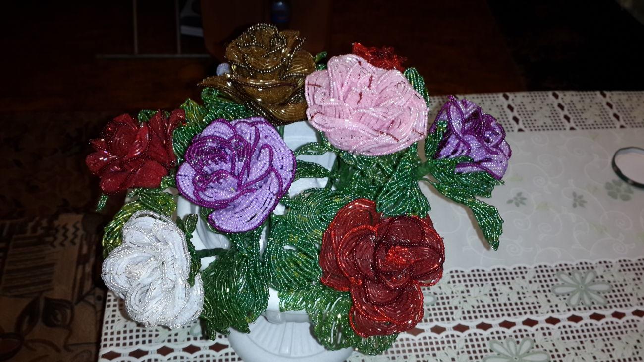 Фото 2 - Лучший подарок! Розы из бисера Hand-made