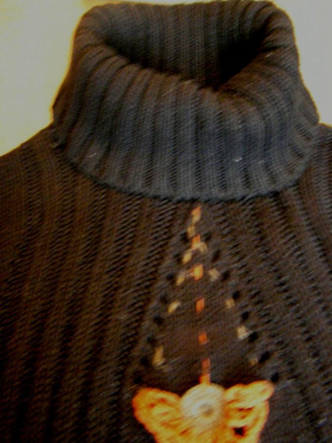 Фото 5 - Оригинальый свитер с поясом