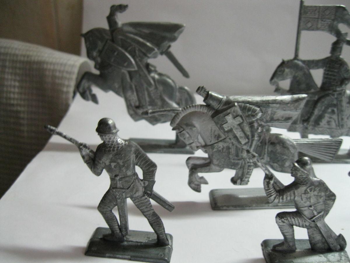 Фото 7 - Солдатики Ледовое побоище рыцарь, кнехт, всадник, дружинник СССР - 14