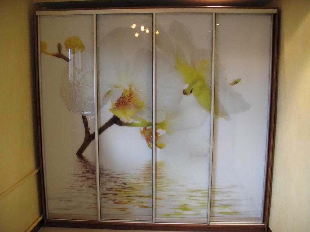Фото - Шкаф-купе на 4 двери Орхидея