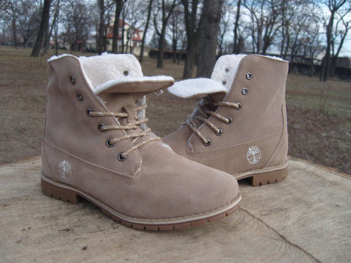 Фото 3 - Женские ботинки Timberland коричневые