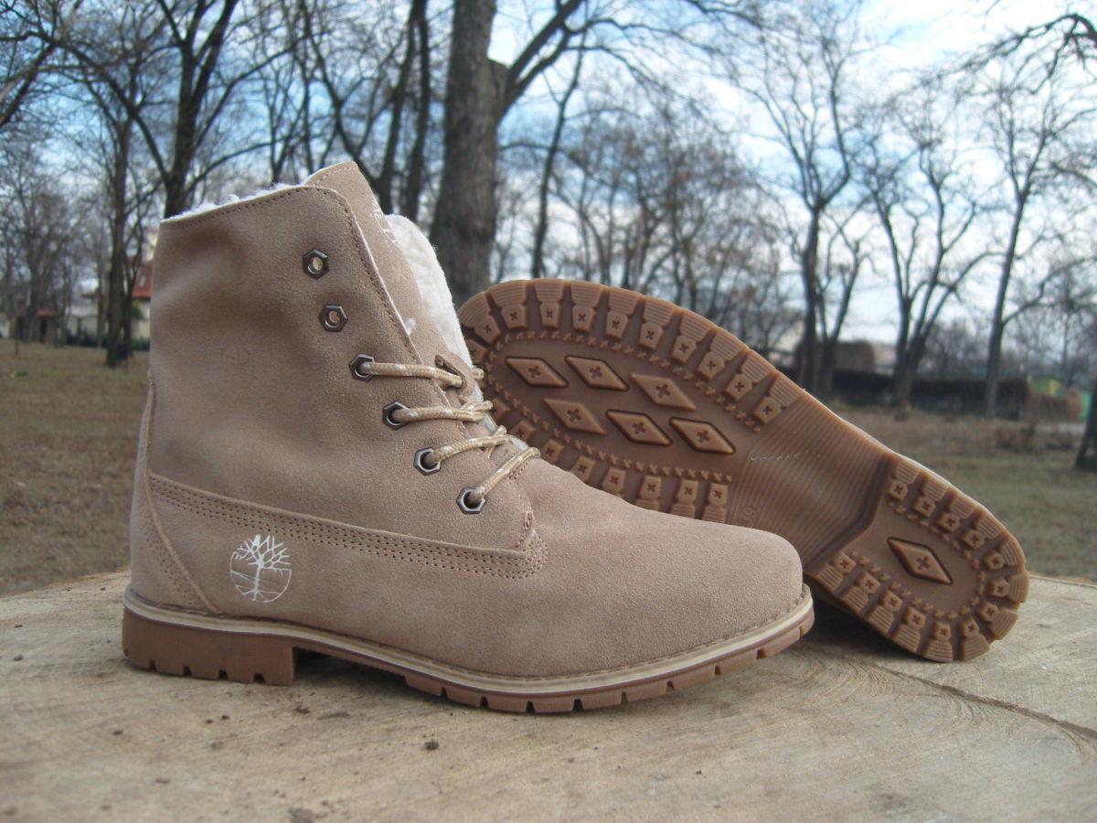 Фото 7 - Женские ботинки Timberland коричневые
