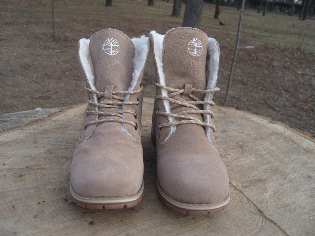 Фото 8 - Женские ботинки Timberland коричневые