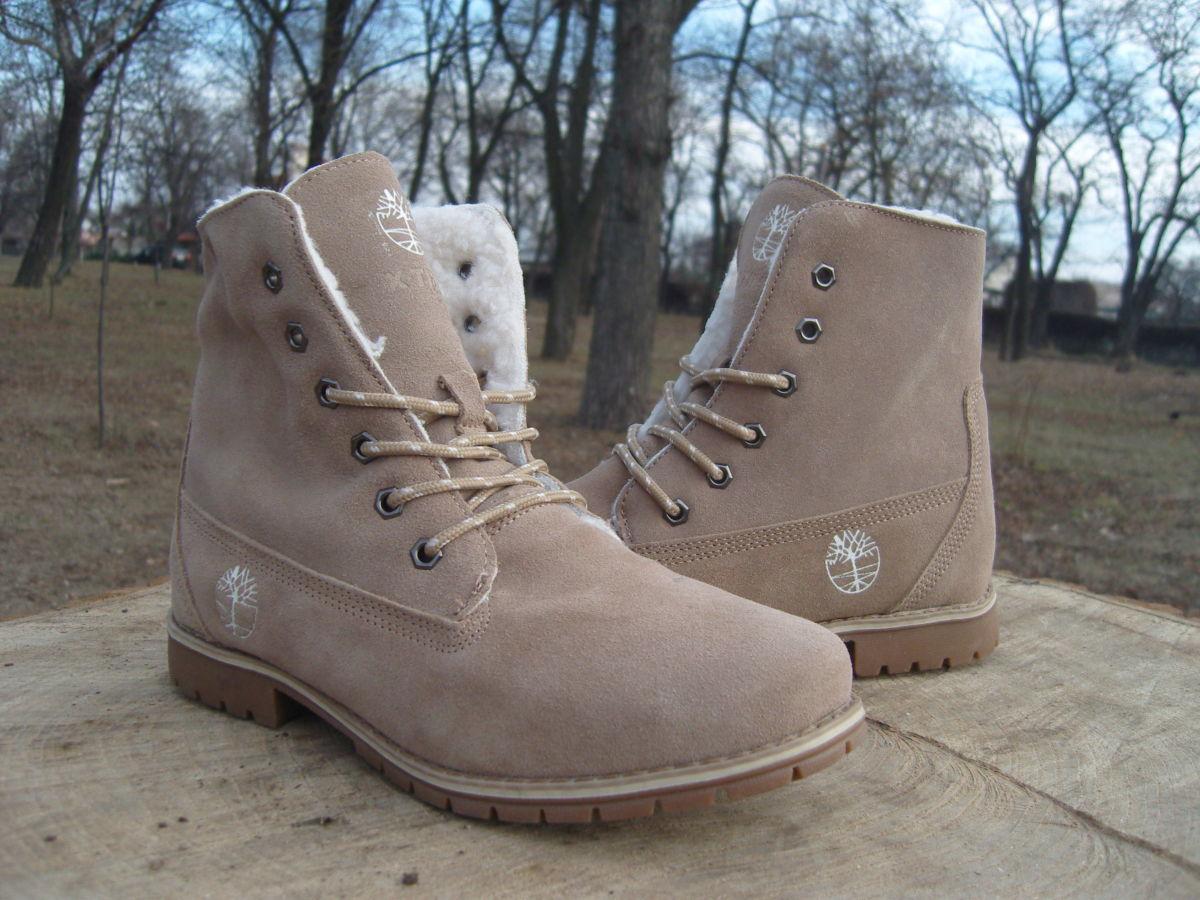Фото 5 - Женские ботинки Timberland коричневые