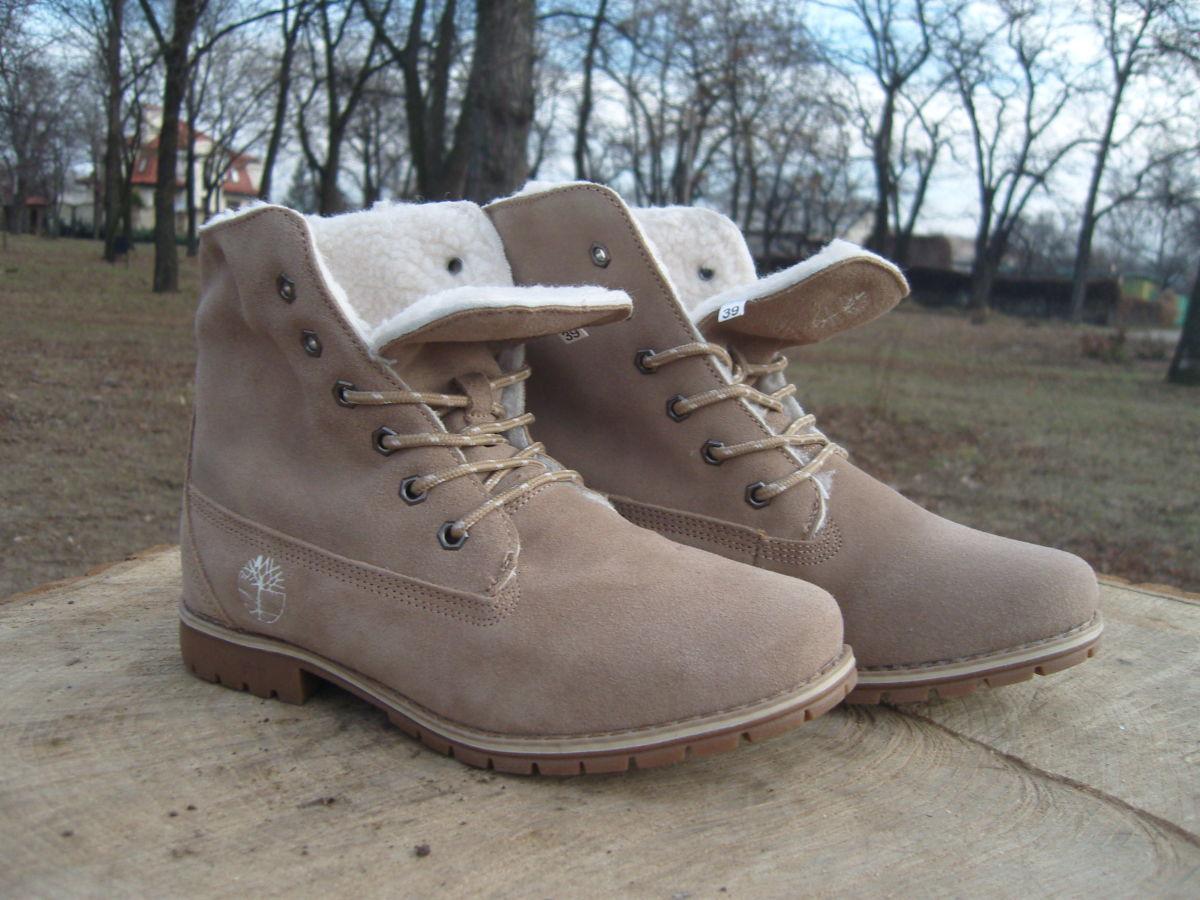 Фото - Женские ботинки Timberland коричневые