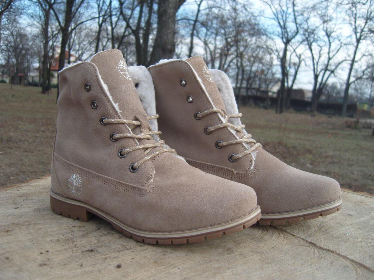 Фото 2 - Женские ботинки Timberland коричневые