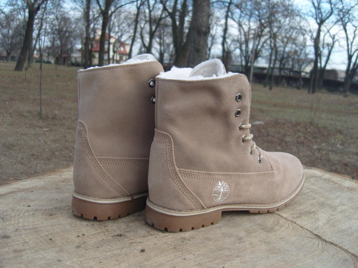 Фото 6 - Женские ботинки Timberland коричневые