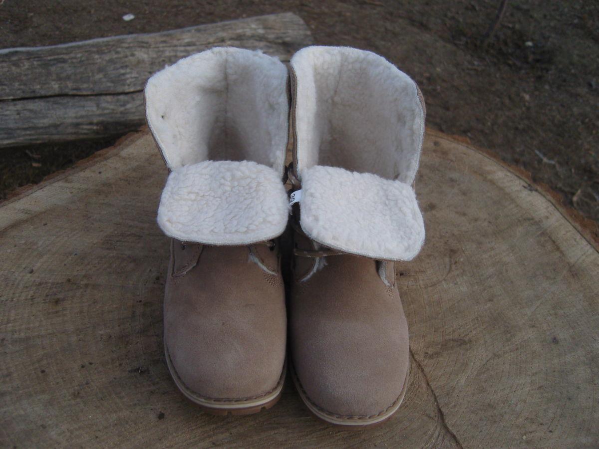 Фото 4 - Женские ботинки Timberland коричневые
