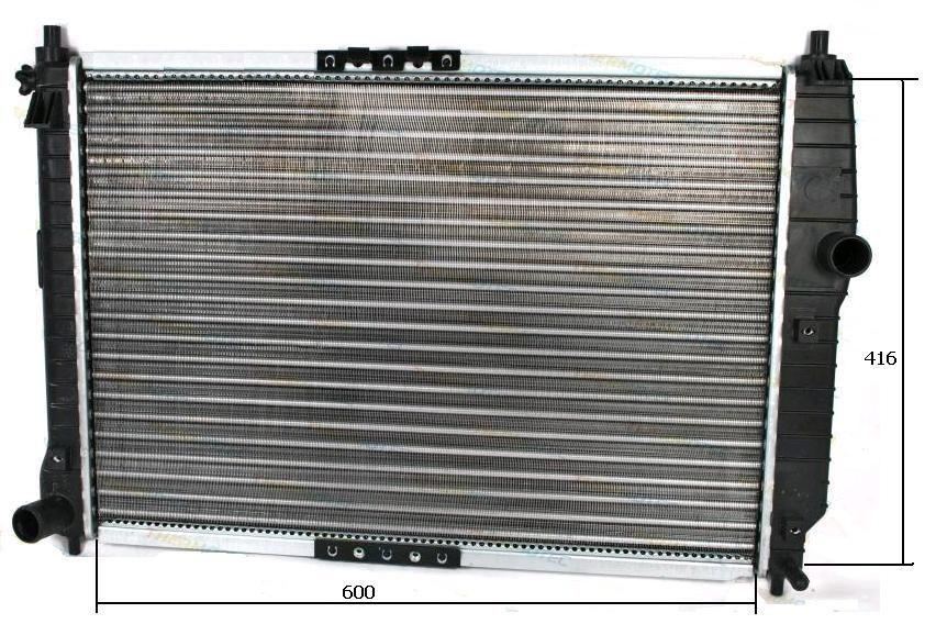 Фото - новые радиатор охлаждения, кондиционер Chevrolet Aveo (Шевроле Авео)
