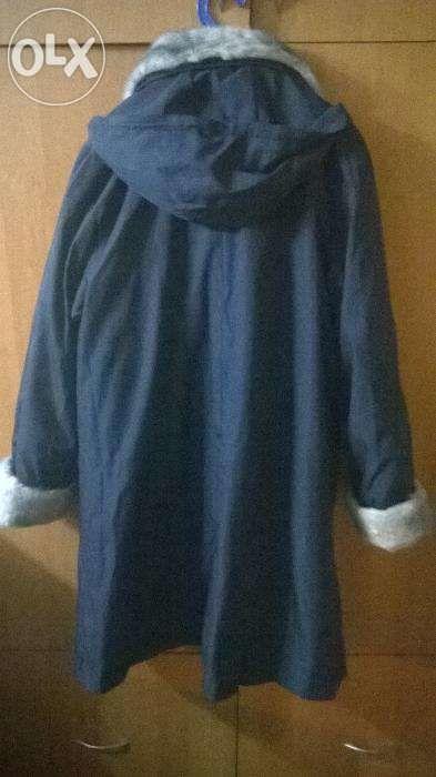 Фото 2 - Новое! Зимнее пальто-плащь на меховой подстежки