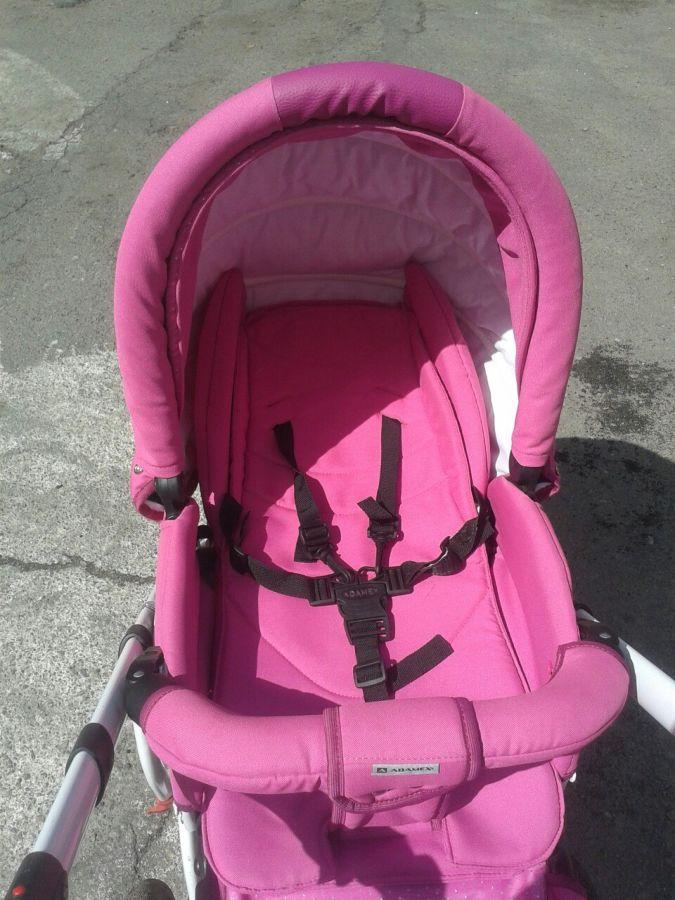 Фото 6 - Продам коляску Adamex York розового цвета.