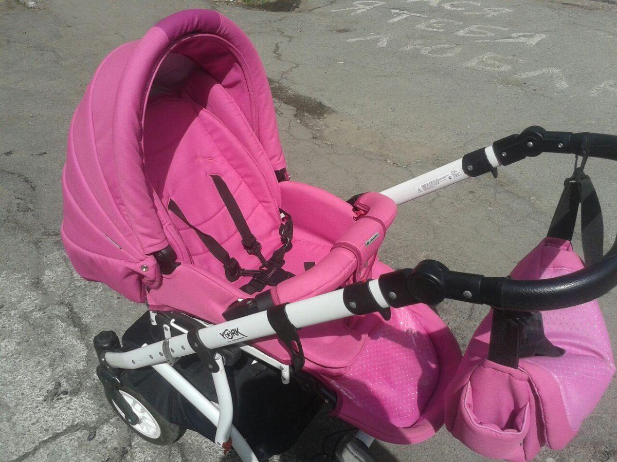 Фото 2 - Продам коляску Adamex York розового цвета.