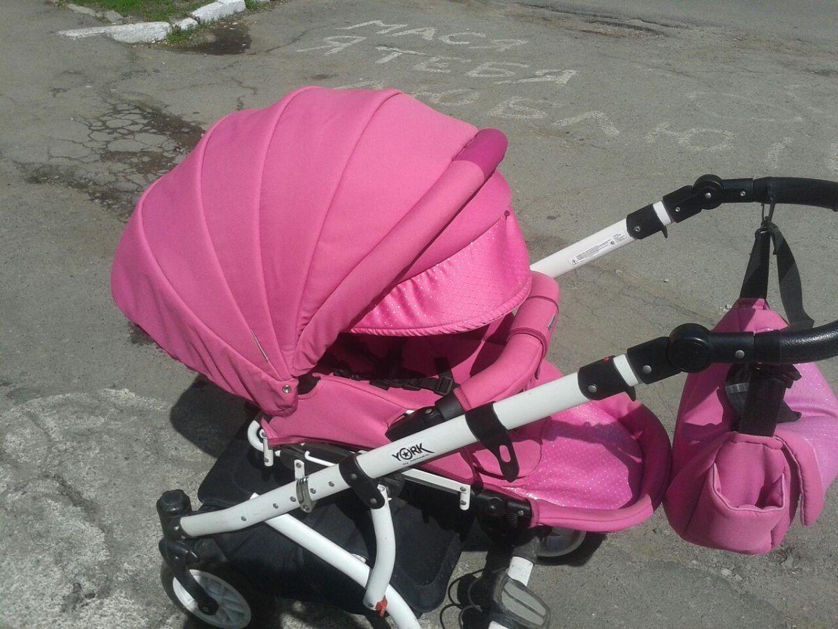 Фото 5 - Продам коляску Adamex York розового цвета.