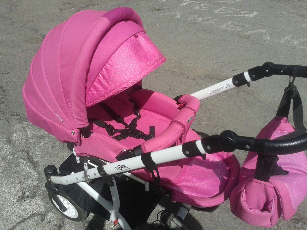 Фото 3 - Продам коляску Adamex York розового цвета.